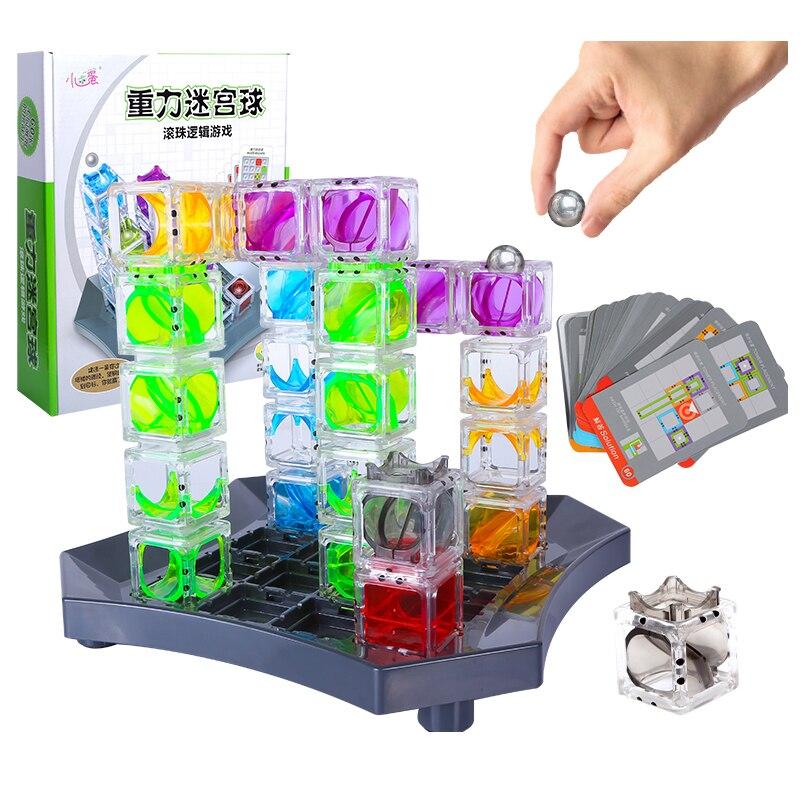 Gravity maze mármore run cérebro 3d caminho-construção jogo e caule brinquedo lógica jogo com 60 desafios para meninos e meninas idade 8 e acima