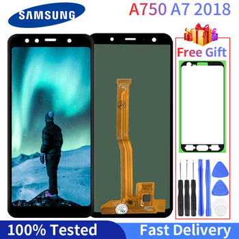 Super AMOLED LCD For Samsung Galaxy  A7 2018 LCD A750 LCD Display A750F SM-A750F A750FN A750G Touch Screen Digitizer Assembly tft a750 lcd for samsung galaxy a7 2018 lcd sm a750f a750f a750 display with frame touch screen digitizer replacement parts