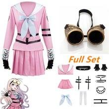 Danganronpa V3 Miu Iruma przebranie na karnawał Halloween kobiety dziewczęta ubierają mundurki szkolne