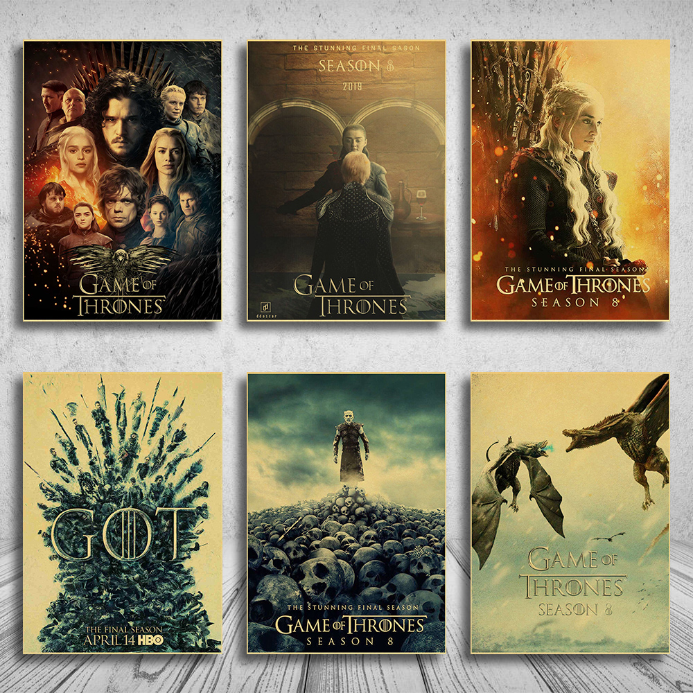 Game of Thrones Season 8 Poster 2019 TV Play Poster and Prints Wall Art Painting For Home Room Decor Wall Sticker image