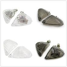 Motorcycle Parts Rear Turn Signal Len Cover w/ LED Light For Suzuki 2008 2009 GSXR600/GSXR750 2007 2008 GSXR1000 Smoke