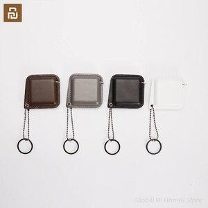 Image 1 - Smartfern1985 순수한 소 가죽 휴대용 통치자는 작고 편리합니다. 나일론 샌드위치 테이프
