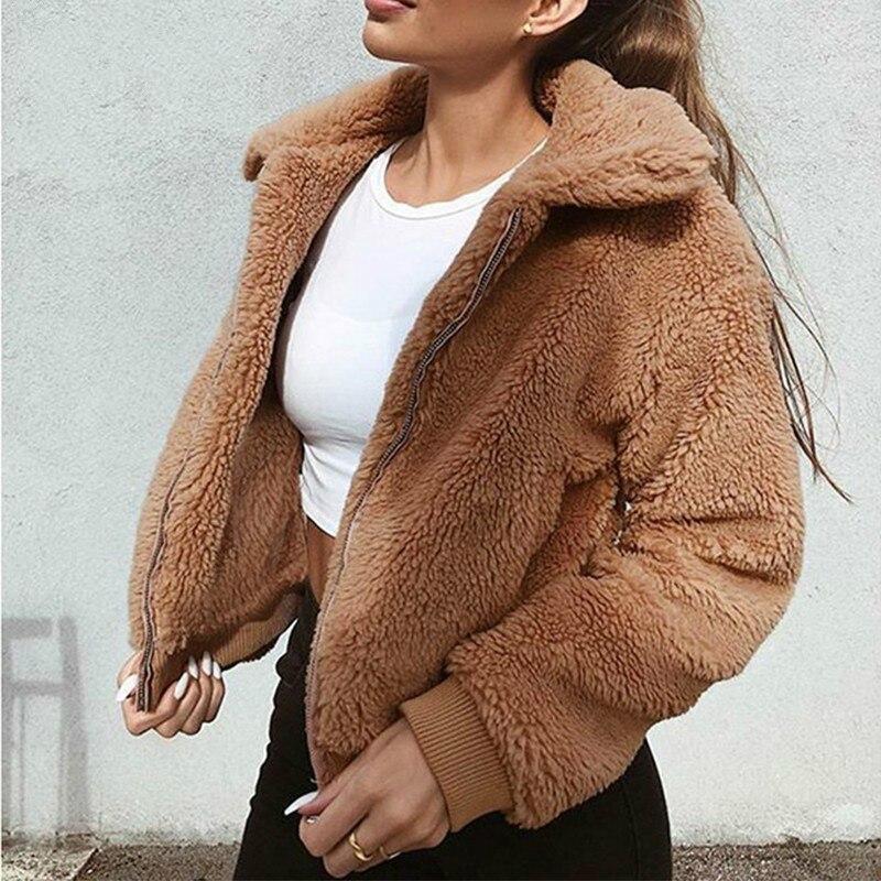 2019 Winter   Jacket   Women Long Sleeve Coat   Basic     Jackets   Autumn Warm Coats Female Outwear Fashion Overcoat