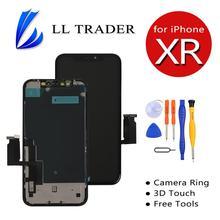 Para o iphone xr display substituição da tela de toque digitador da tela lcd assembléia completa peças 100% testado aaa com ferramentas gratuitas toque 3d