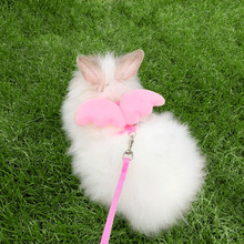 kitten harness pet leash cat harness outdoor walk for small cat puppy chihuahua pet harness leash cat products Pet Rabbit Harness Leash for Soft Nylon,Running,Walking Jogging Harness Leash for Bunny, Cat, Kitten and Other Small Pet Animals