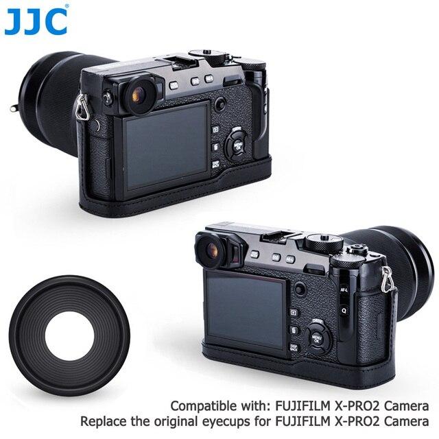 JJC 2 adet Eyecup mercek vizör siperliği Fuji Fujifilm X Pro2 XPro2 göz farı yumuşak silikon kauçuk kamera Eyecup koruyucu