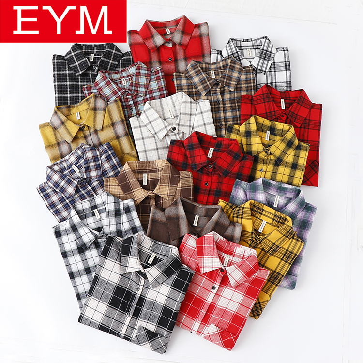 2019 Spring New Womens Tops And Blouses Fresh Style Long Sleeve Plaid Shirt Women Loose Blouse Female Cotton Casual Shirt Blusas