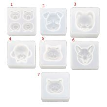 Cute Pet Dog Cat Bear Pendant Resin Silicone Mold Jewelry Making Tools Art Craft