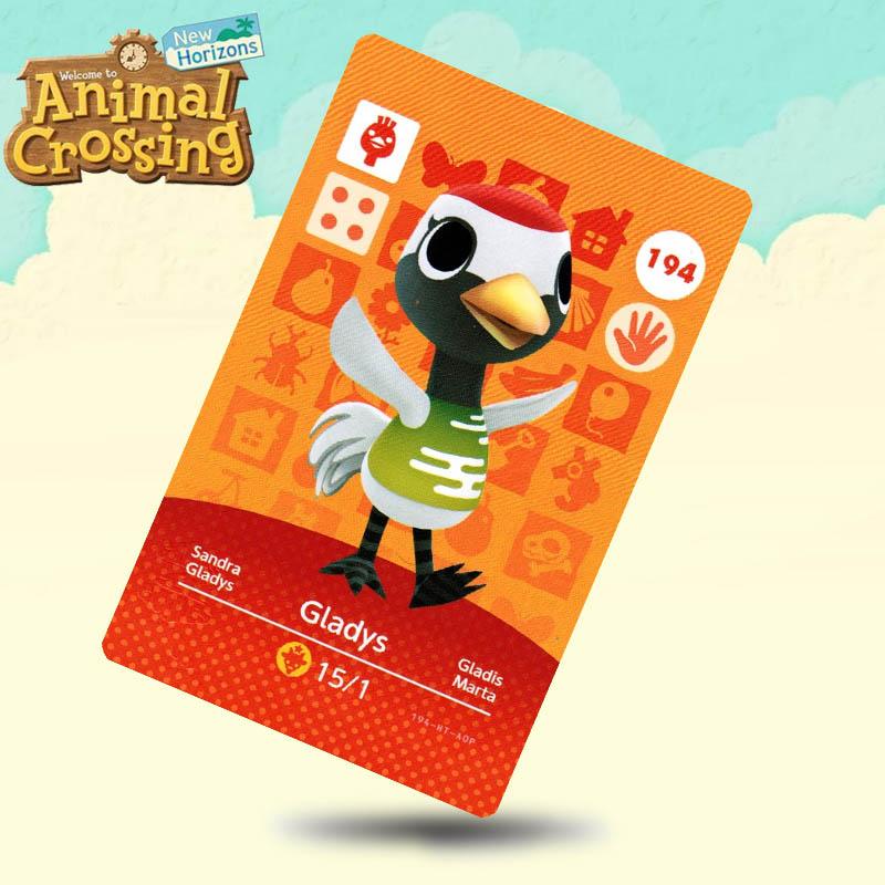194 Gladys Animal Crossing Card Amiibo Cards Work For Switch NS 3DS Games
