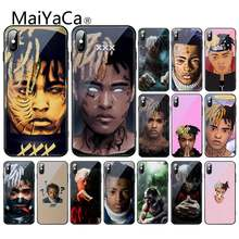 Maiyaca rapper xxxtentacion diy 인쇄 강화 유리 tpu phonecase for iphone xr xs max x 7 8 6 s plus 11 11pro 11pro max(China)