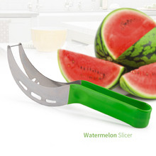 Kitchen Gadgets Watermelon Slicer Stainless Steel Fruit Cutter Melons Knife Fast Cutting Tools