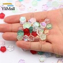 10-50 pz 10mm misto AB perle di fiori di vetro perline di vetro ceco per gioielli che fanno trovare accessori gioielli fai da te