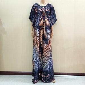 Image 1 - 2019 novo africano de manga curta vestido longo dashiki africano vestidos para as mulheres mais tamanho roupas mama