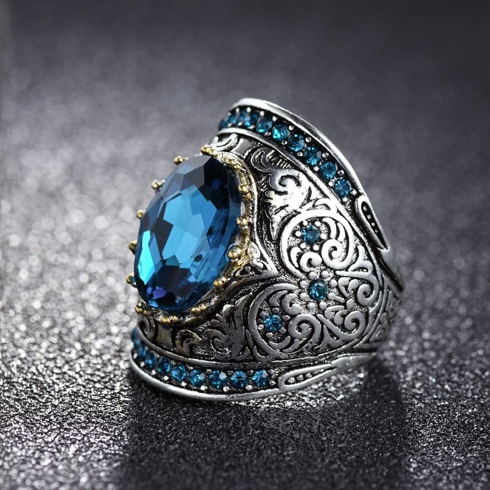 Bague Ringen 925 Silver Jewelry Vintage Rings For Women Men 10x14mm Aquamarine Gemstone Ring Anniversary Fine Jewlery Gifts 1