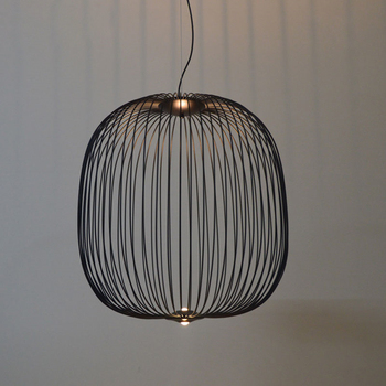 Modern Nordic Foscarini Spokes Pendant Lights Dimming Iron Bird Cage Pendant Lamps Suspension Dining Room Kitchen Fixtures цена 2017