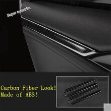 Lapetus подлокотник на внутреннюю сторону двери украшения полосы крышка отделка Подходит для Honda Civic 10th седан- ABS углеродного волокна вид