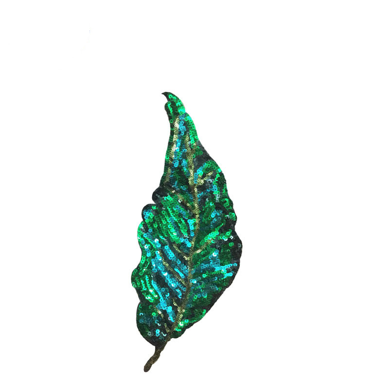 Leaf Sequin Patch Leaf Cloth Stickers Clothing Accessories DIY Beads.