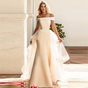 Image 1 - Verngo בת ים שמלות כלה נתיקה רכבת Boho בציר הכלה שמלת Trouwjurk שמלות Vestido דה Noiva 2019