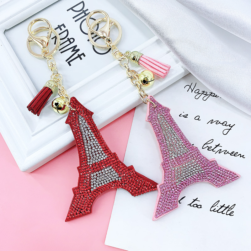Vintage retro style Eiffel Tower and bow charm earrings