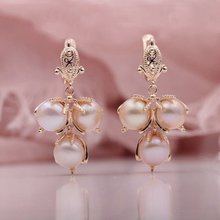 Multicolor Natural Freshwater Irregular Rose Gold Long Earrings Earrings Women Wedding Party Fashion Accessories
