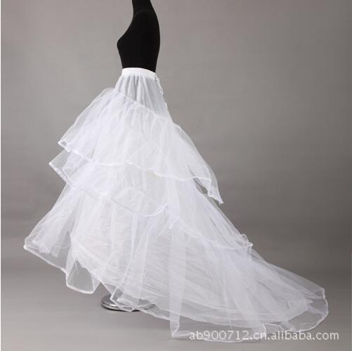 Bride Tailing Crinoline Two Steel Three Yarn Large Mopping Marriage Yarn Formal Dress Long Slip Dress