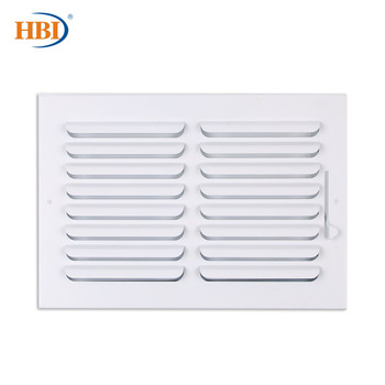 HBI 1-Way W12*H8 Curved-Blade Ventilation Grille Air Outlet Valve Air Supply Register Air Vent Cover Steel Ceiling/Sidewall curved air curved air airborne cd digisleeve