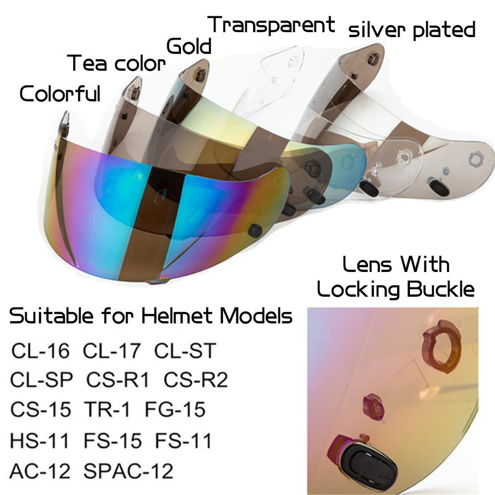 1pc Motorcycle Helmet Visor Fitting Lens for HJC CL 1617CS R1R R CS 15TR 1FG 15HS 11CL SP Riding Accessories Supplies Bicycle Helmet     - title=