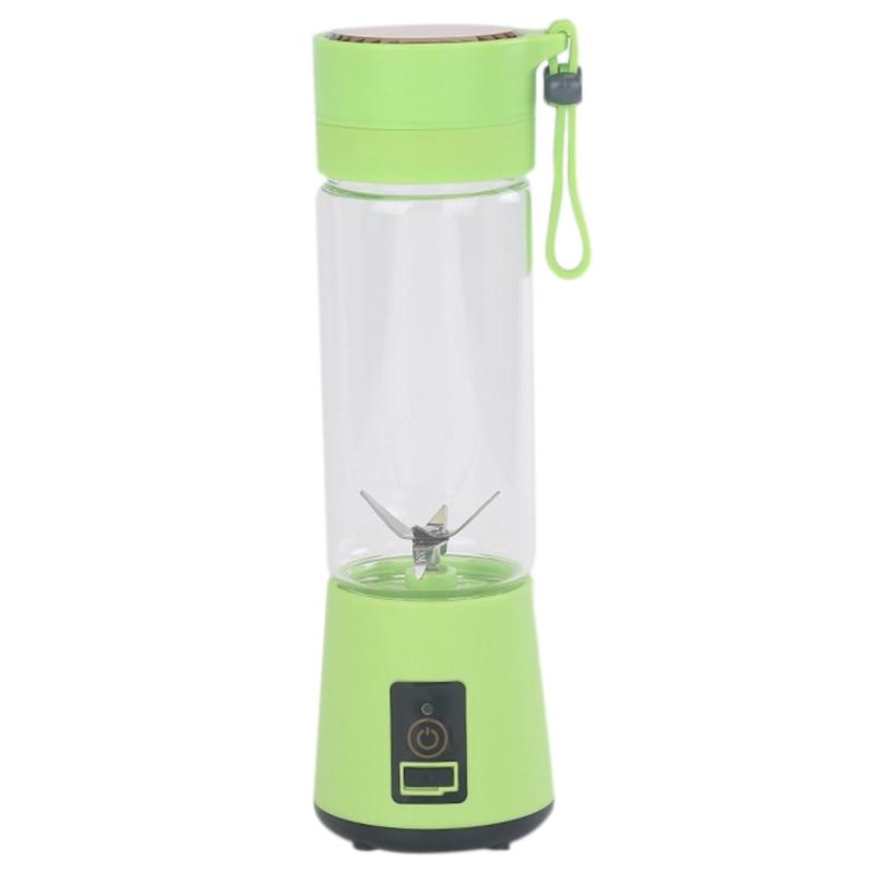 420Ml Portable Juicer Glass Bottle Juicer USB Rechargeable 6 Blades Juicer Smoothie Blender Machine Mixer Mini Juice Cup title=
