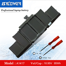 A1398 Battery For Apple MacBook Pro 15 inch Retina A1398 (Mid 2012 Early 2013) A1417 Battery 10.95V/ 95WH a1398 99