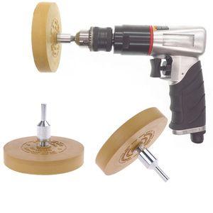 """Image 3 - Goma de borrar almohadilla de rueda con adaptador de taladro rueda de pulido de 88mm removedor de calcomanías de 1/4 """"para calcomanías de coche pegatinas de vinilo QuickRemovalToo"""