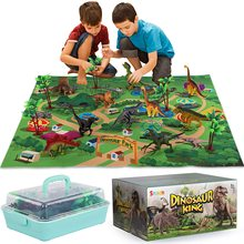 Jurassic Park Dinosaurs Toy Animal Jungle Set T rex Dinosaur Excavation Educational Boys children toys for kids 2 to 4 years old