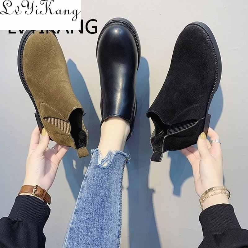 Kadın PU Deri Tek Çizmeler Bayanlar Sivri Burun Çizmeler Büyük Boy Moda Giyim Patik Katı Sonbahar Ve Kış Botas Mujer 35 -40
