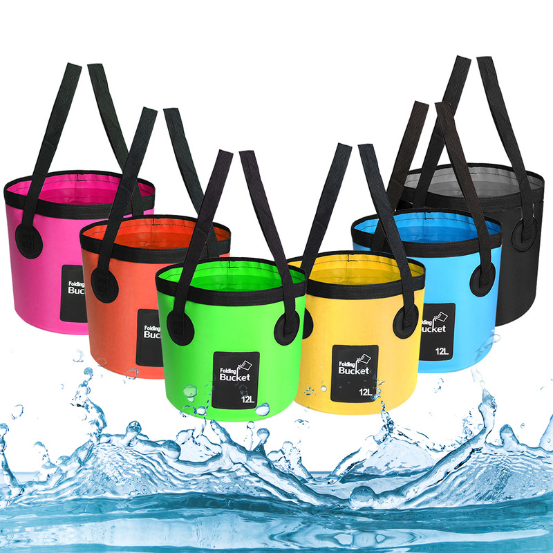 Foldable Water Container Storage Carrier Bucket Portable Multifunction Waterproof Fishing Water Bags Outdoor Travel Supplies
