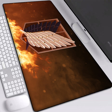 2020 New Attack on Titan Big Mat Waterproof Mouse-pad Desktop Computer Laptop Mats Locking Edge Non-slip Keyboards Pad 900x400mm