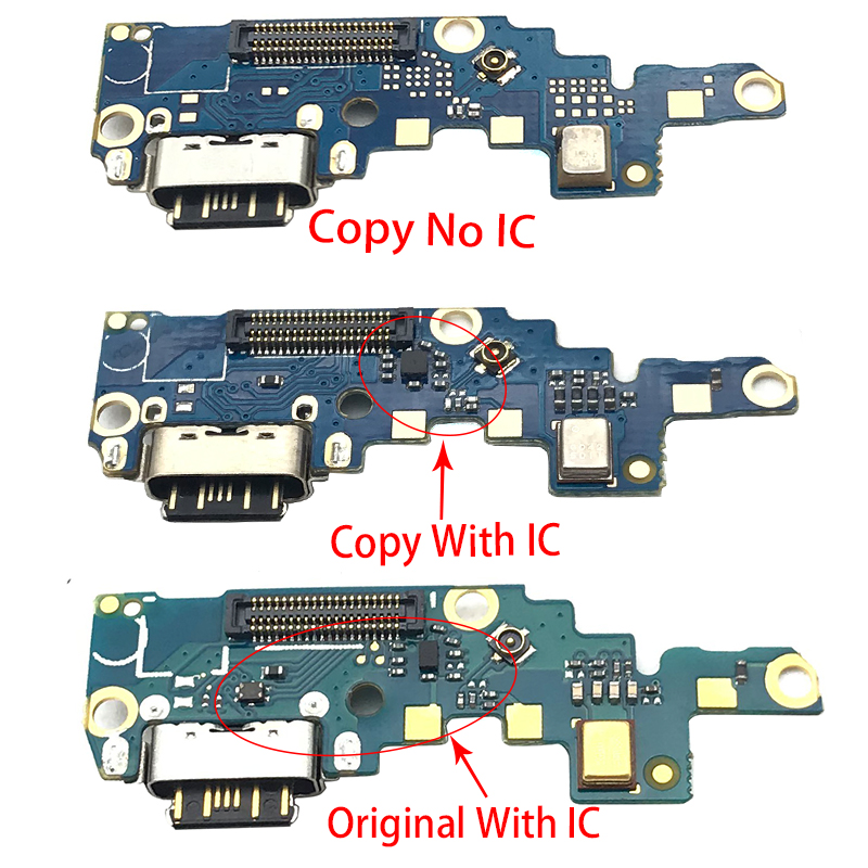 1pcs For Nokia X6/ 6.1 Plus TA-1099/1103 Type-C USB Charger Charging Port Dock Connector Flex Cable Repair Parts