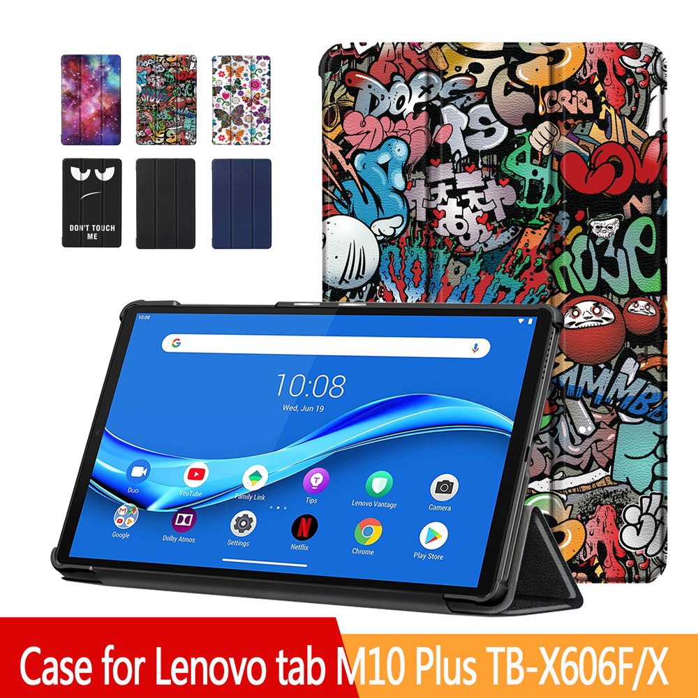 Cover Plus-Case Lenovo Tab M10-Plus TB-X606F/X Magnetic Adjustable for Strong Ultra-Thin
