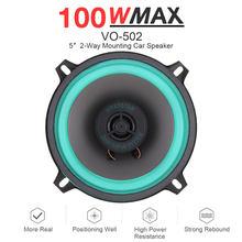 1 pçs 5 Polegada 100w carro universal alto-falante coaxial de alta fidelidade porta do veículo auto áudio música estéreo gama completa alto-falantes freqüência para carros