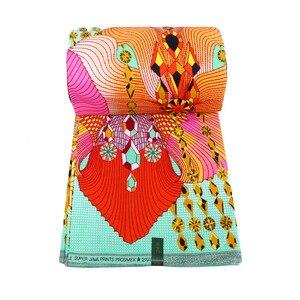Image 5 - 우수한 아프리카 직물 진짜 왁스 바틱 100% 코 튼 고품질 앙카라 인쇄 Pagne Tissu 드레스 공예에 대 한 바느질 재료