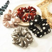 Elastic Dot hair tie leopard print rope Chiffon Scrunchies comfortable ponytail holder rubber women girls accessories