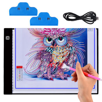 LED Diamond Painting Drawing Board Dimmable A4 Size Led Light Pad Tablet Diamond Painting Eye Protection Diamond Embroidery