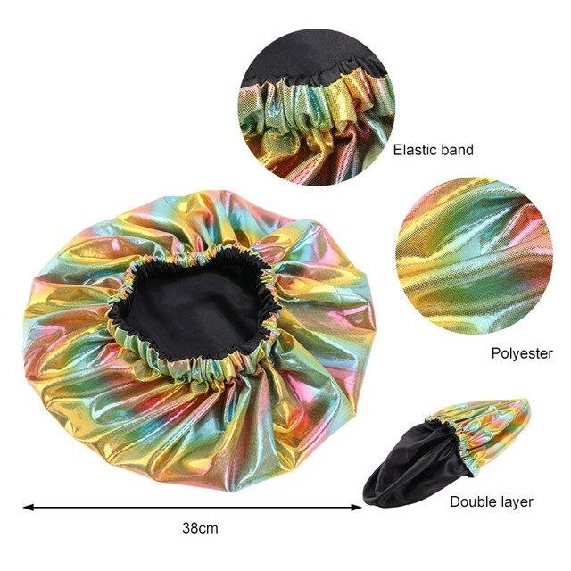 Купить двухслойная шелковая шапочка большого размера для женщин головной картинки цена