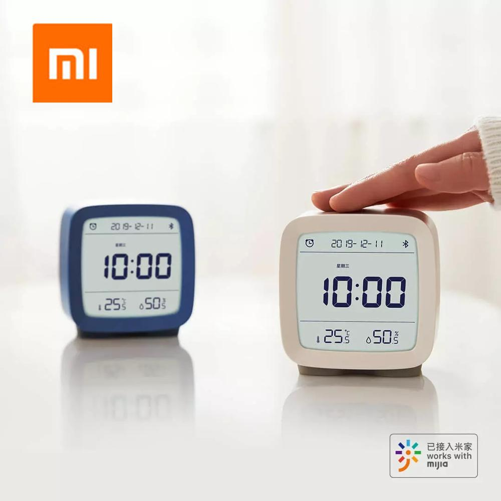 Xiaomi Bluetooth Alarm Clock Digital Thermometer Temperature and Humidity Monitoring Soft Night Light 3 In 1 Work with Mijia App image