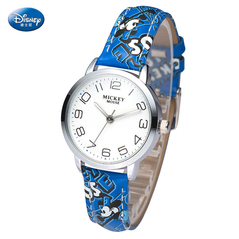 Disney Children's Quartz Watch Boy Girl Watch And Gift Cute Trend Personality Mickey Mouse Kids Watch Water Resistant Alloy