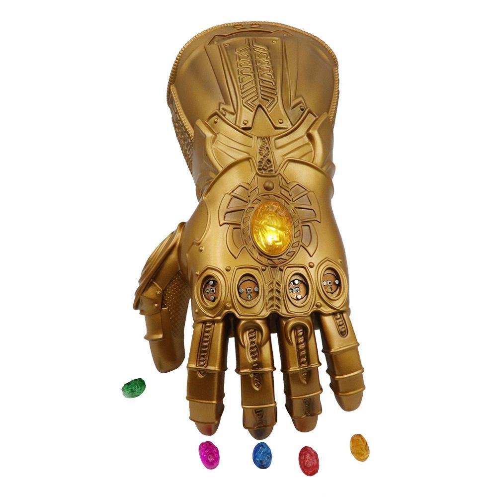 Gant adulte en fer homme Thanos gant infini gants en PVC accessoires Cosplay gant Thanos avec 6 LED pierres magnétiques à l'infini