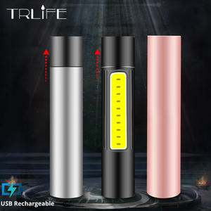 Flashlight Waterproof Torch Mini Led Rechargable Camping 3-Mode Stylish for Suit 600mah