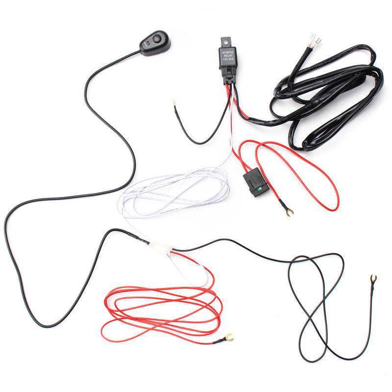 1 Pcs Ecahayaku 2 Meter Mobil Lampu LED Bar Kawat Kabel Harness Relay Loom Kit Kabel Sekering untuk Lampu Kabut lampu Kerja LED 12 V 24 V