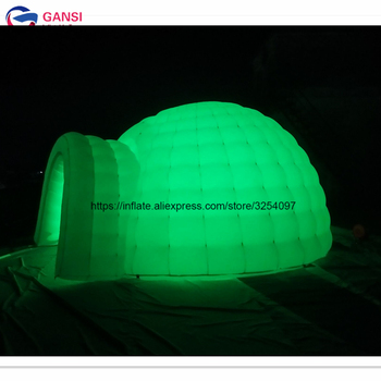 цена на Free shipping outdoor advertising inflatable lighting igloo tent oxford cloth inflatable party dome tent for rental