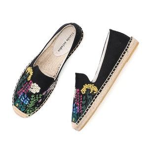 Image 2 - Tienda Soludos נעלי נשים שטוחות אופנה נוח נשים מזדמן 2019 אמיתי מיהר קנבוס Zapatillas Mujer Sapatos