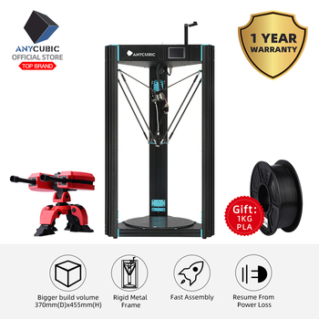 ANYCUBIC 3D Printer Predator Large Plus Size 370x370x455mm One-Year-Warranty 2019 New Auto Leveling 3D Printer Kit impresora 3d 1
