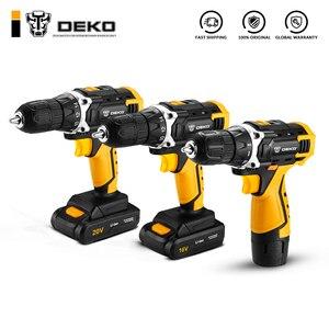 DEKO New DKCD12/16/20V Electric Screwdriver Mini Wireless Power Driver DC Lithium-Ion Battery Home DIY Keyless(China)